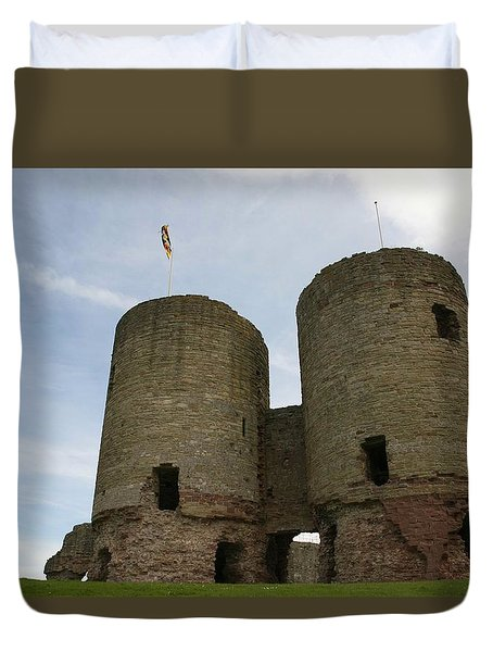 Ruddlan Castle Duvet Cover by Christopher Rowlands