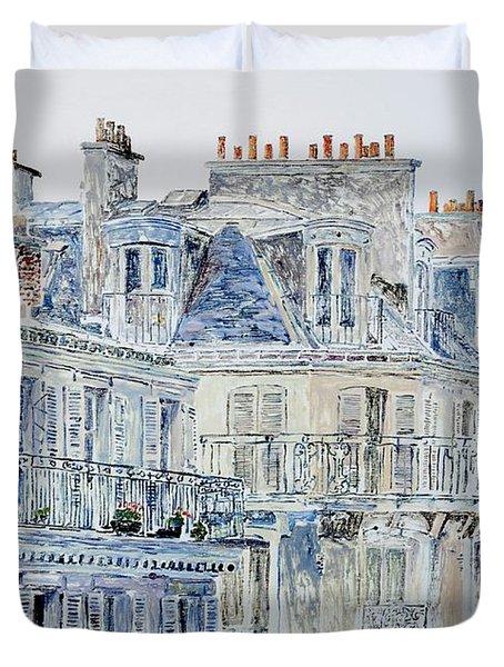 Rue Du Rivoli Paris Duvet Cover by Anthony Butera