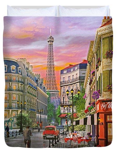 Rue Paris Duvet Cover