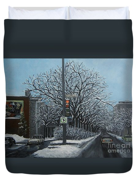 Rue St Jacques Duvet Cover by Reb Frost