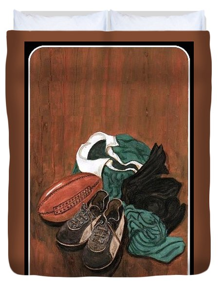 Rugby Duvet Cover by Sam Mart