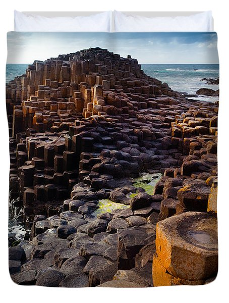 Rugged Giant's Causeway Duvet Cover