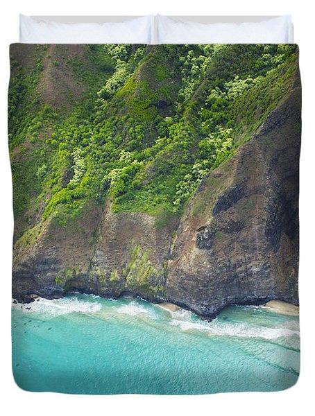 Rugged Na Pali Coast Duvet Cover by Kicka Witte