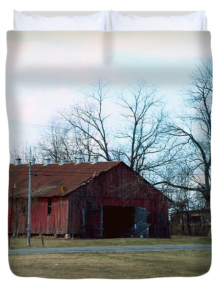Rugged Shed II Duvet Cover by Paulette B Wright
