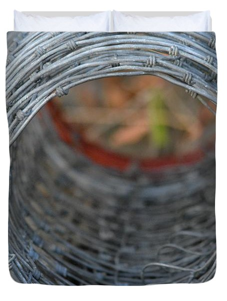 Rugged Wire Fencing Duvet Cover by Patricia Twardzik