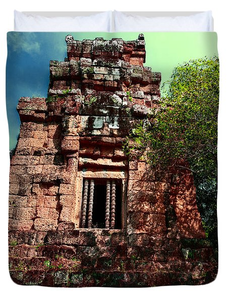 Ruin At Angkor Duvet Cover