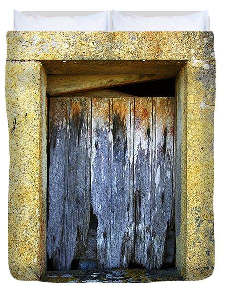 Ruined Window Duvet Cover by Carlos Caetano