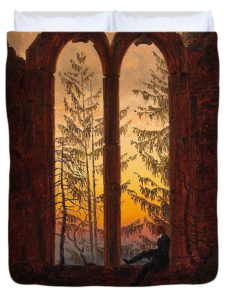 Ruins Of The Oybin Monastery The Dreamer Duvet Cover by Philip Ralley