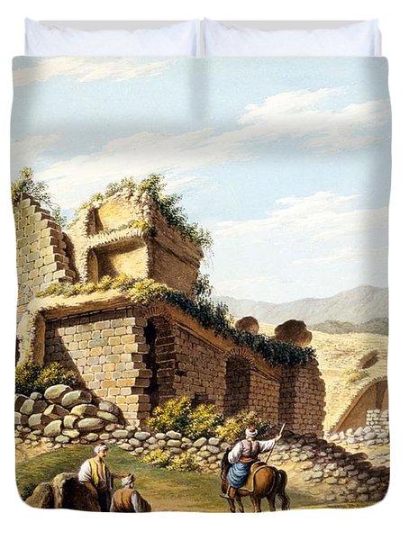Ruins Of The Stadium, 1790s Duvet Cover by Gaetano Mercati