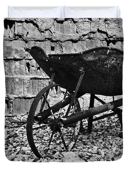 Run-down Wheelbarrow Duvet Cover by Christine Till