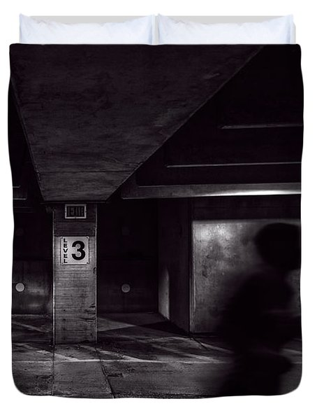 Running Level Three Night People Duvet Cover by Bob Orsillo
