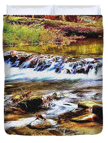 Running Stream In Yosemite National Park Duvet Cover by Bob and Nadine Johnston
