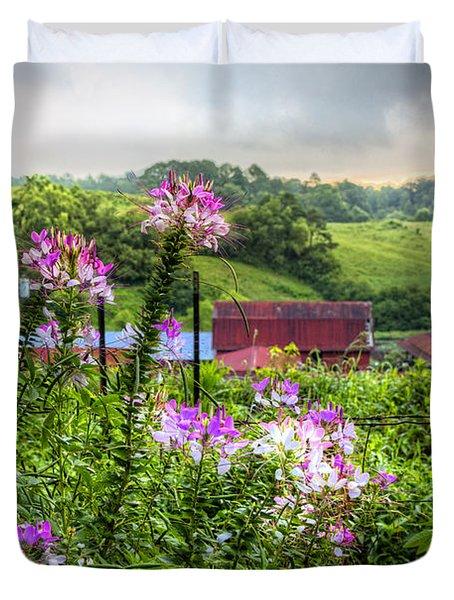Rural Garden Duvet Cover by Debra and Dave Vanderlaan