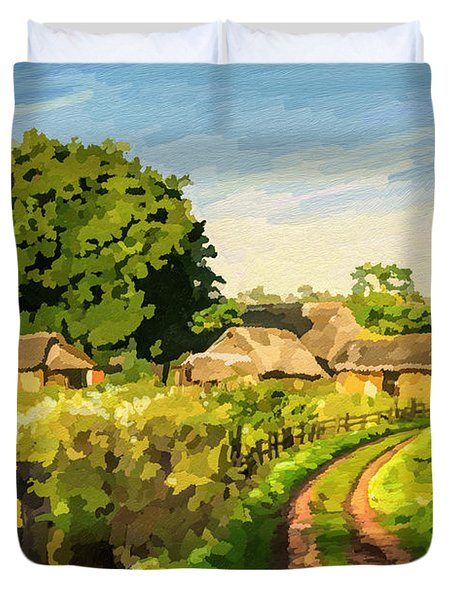 Rural Home Duvet Cover by Anthony Mwangi