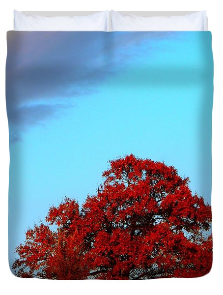 Rural Route Duvet Cover by Chris Berry
