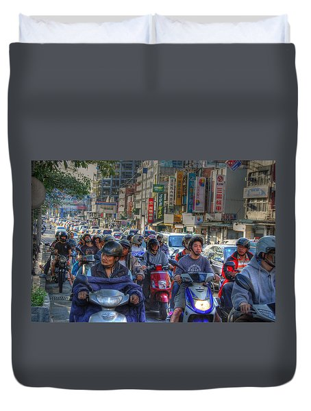 Rush Hour Duvet Cover