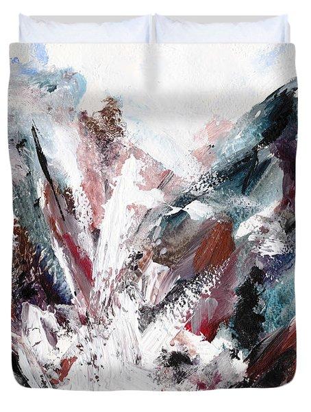 Rushing Down The Cliff Duvet Cover by Lidija Ivanek - SiLa