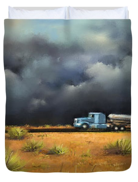 Rushing Home Duvet Cover