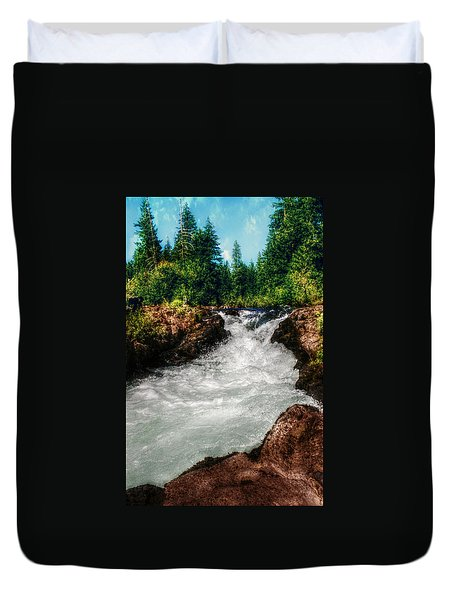 Rushing Rogue Gorge Duvet Cover by Melanie Lankford Photography
