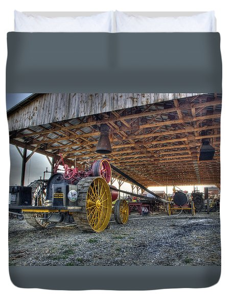 Russell At The Saw Mill Duvet Cover
