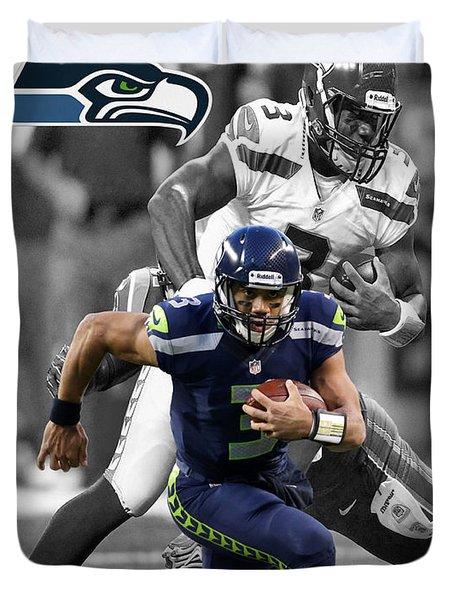 Russell Wilson Seahawks Duvet Cover