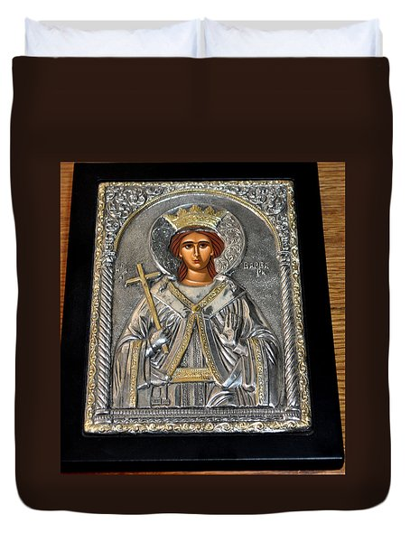 Russian Byzantin Icon Duvet Cover