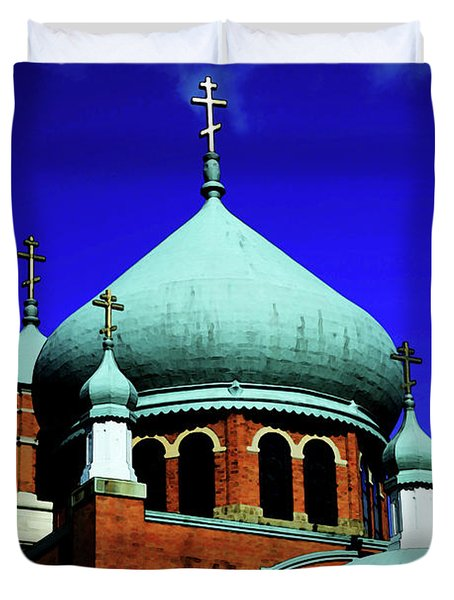 Russian Orthodox Church Duvet Cover by Karol Livote