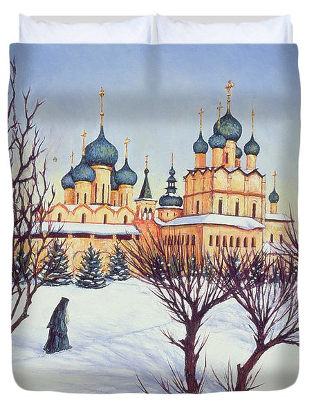 Russian Winter Duvet Cover by Tilly Willis