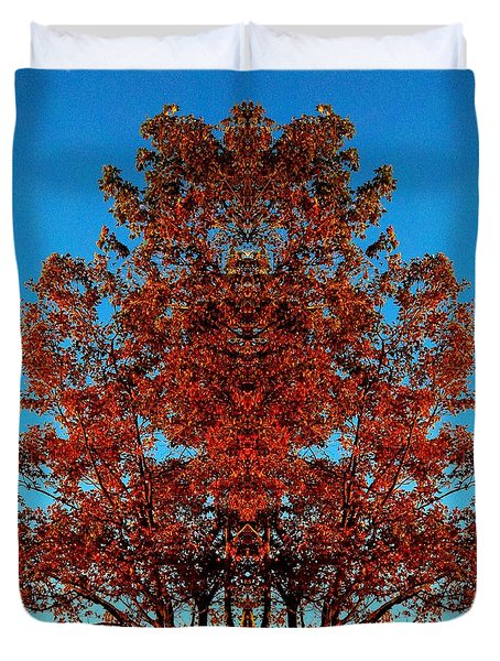 Duvet Cover featuring the photograph Rust And Sky 2 - Abstract Art Photo by Marianne Dow