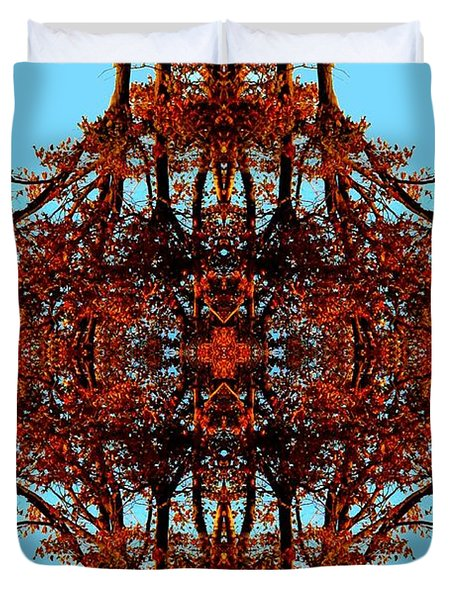 Duvet Cover featuring the photograph Rust And Sky 3 - Abstract Art Photo by Marianne Dow
