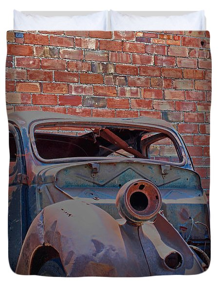 Duvet Cover featuring the photograph Rust In Goodland by Lynn Sprowl