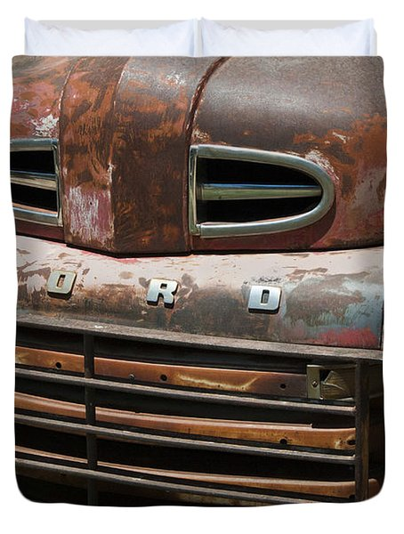 Rusted Ford In Hackberry Duvet Cover