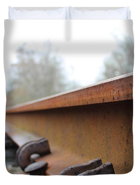 Rusted Track Duvet Cover