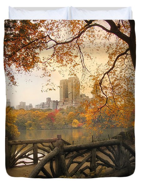 Duvet Cover featuring the photograph Rustic City View by Jessica Jenney