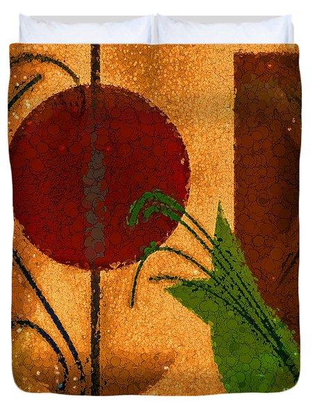 Rustic Elegance Geometric Autumn Abstract Duvet Cover