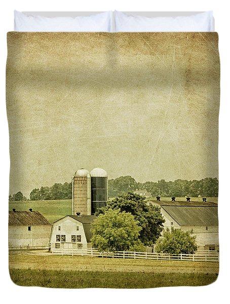 Rustic Farm - Barn Duvet Cover by Kim Hojnacki