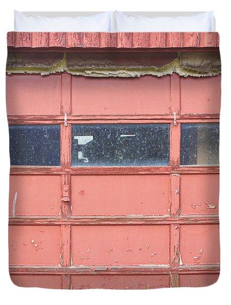 Rustic Rural Red Garage Door Duvet Cover by James BO  Insogna