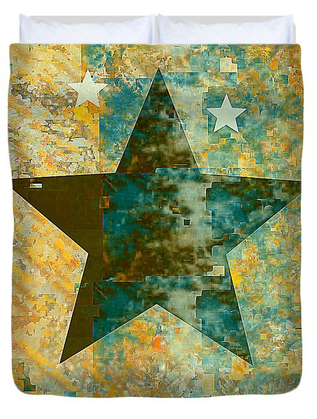 Rustic Star #2 Duvet Cover by Jessica Wright