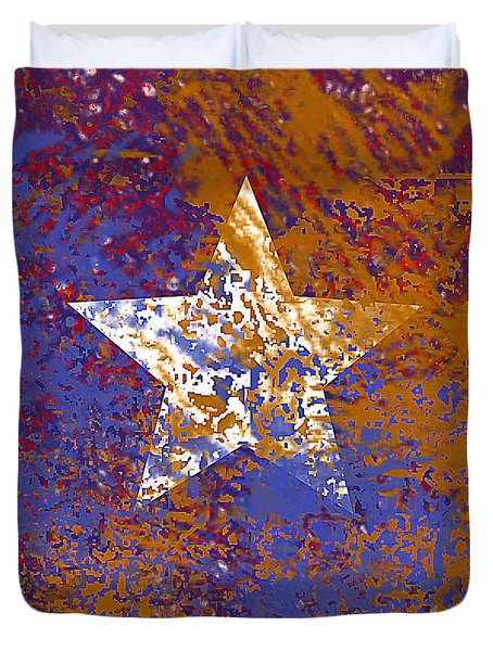 Rustic Star Duvet Cover by Jessica Wright