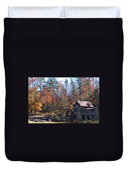 Rustic Water Mill In Autumn Duvet Cover by William Tanneberger