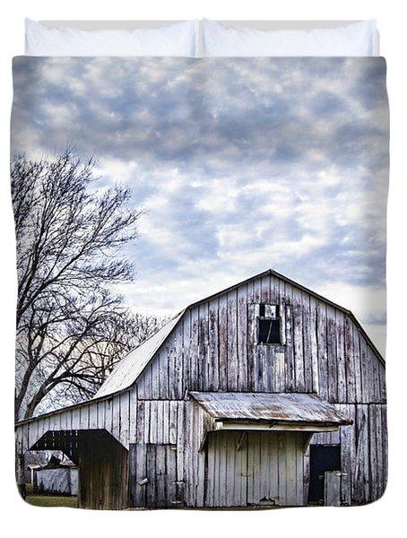 Rustic White Barn Duvet Cover