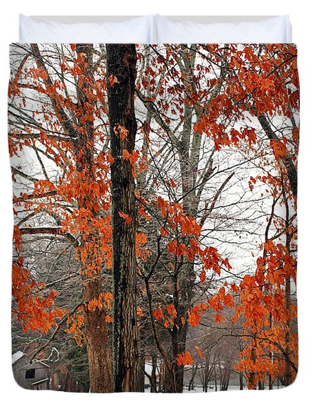 Rustic Winter Duvet Cover