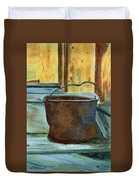 Rusty Bucket Duvet Cover