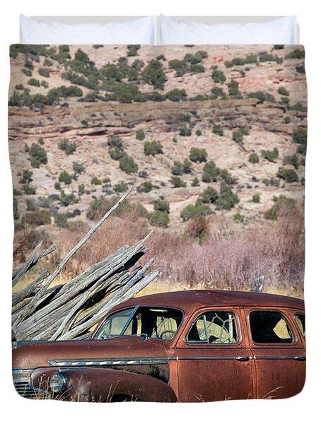 Rusty Chevrolet Special Deluxe In Manila Utah Duvet Cover