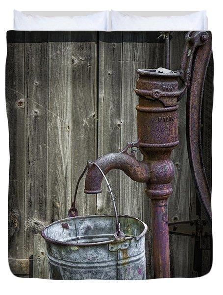 Rusty Hand Water Pump Duvet Cover