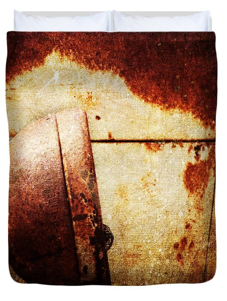 Rusty Headlamp Duvet Cover