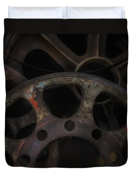 Rusty Iron Gears Duvet Cover