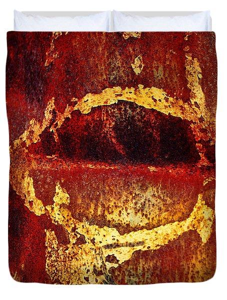 Rusty Kiss Duvet Cover by Leanna Lomanski