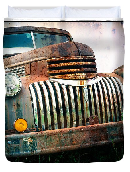 Rusty Old Chevy Pickup Duvet Cover by Edward Fielding