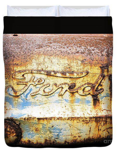 Rusty Old Ford Closeup Duvet Cover